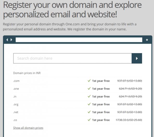 onedotcom hosting services