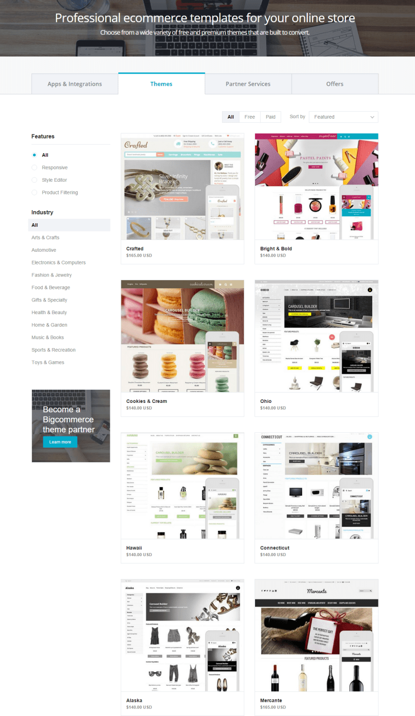 Bigcommerce Free Ecommerce Templates Online Store Themes