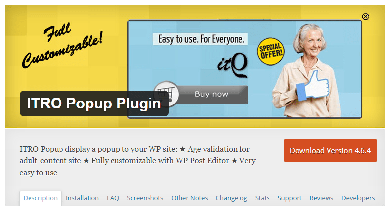 ITRO Popup WordPress Plugin