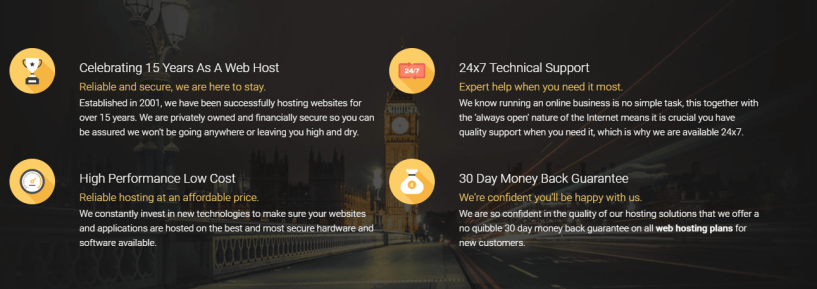 WEBHOSTING UK Discount Code -features