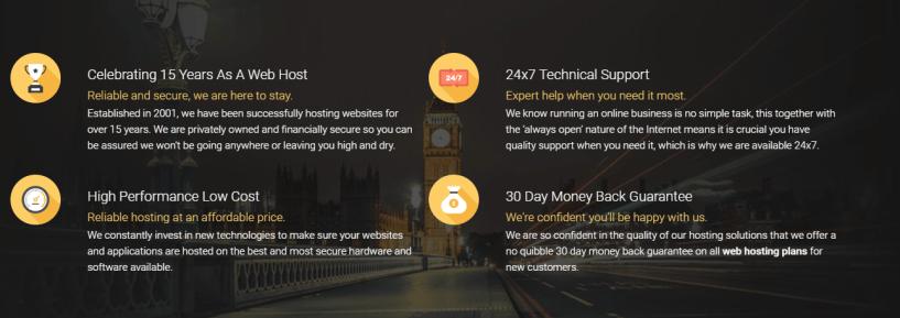 WEBHOSTING UK Discount Code -features