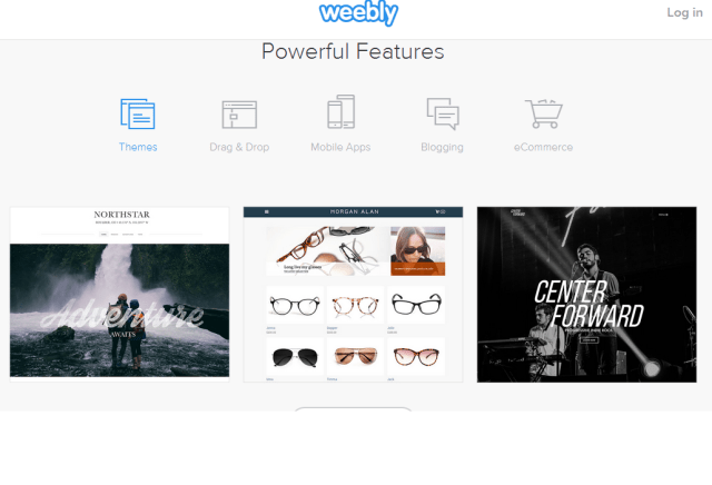 Weebly Website Builder features