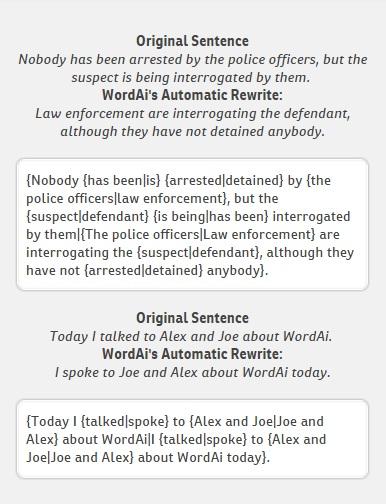 WordAI review qualityl