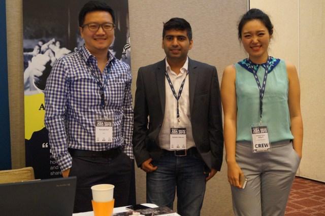 Xiao Zhang with Aishwin Vikhona Domainfest Macau