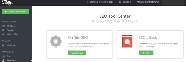 sitey review - seo tool center