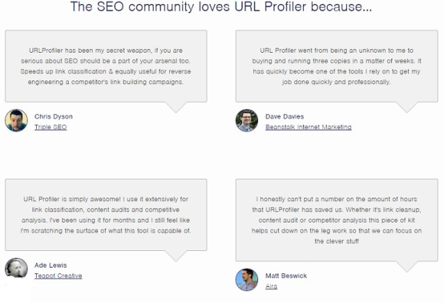 url profiler review pricing