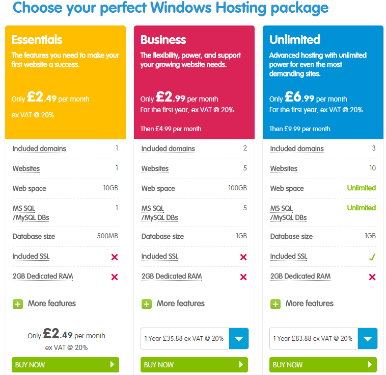 123 reg UK windows hosting