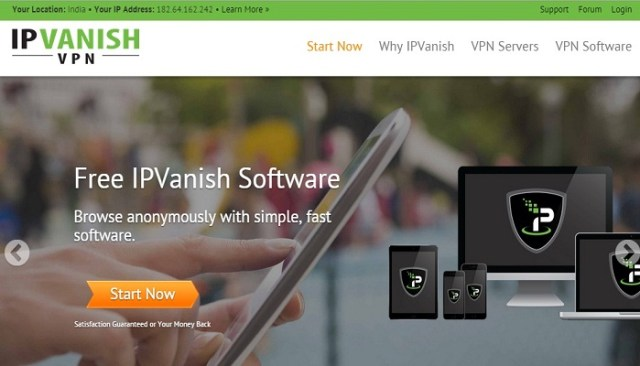 IPVanish - top file sharing vpn