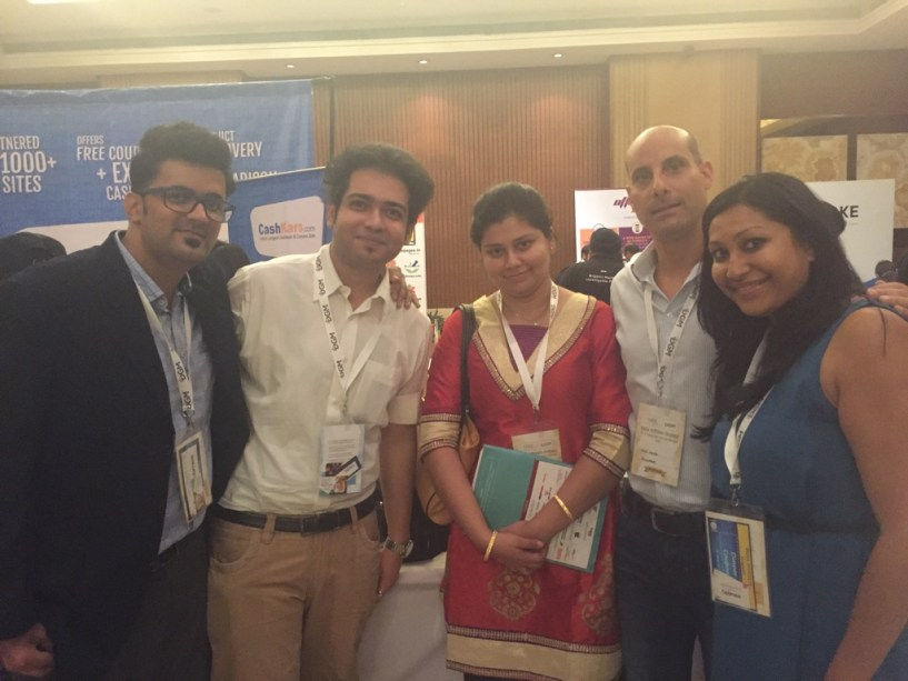 India Affiliate Summit 2015 Delhi Payoneer team Gold sponsor