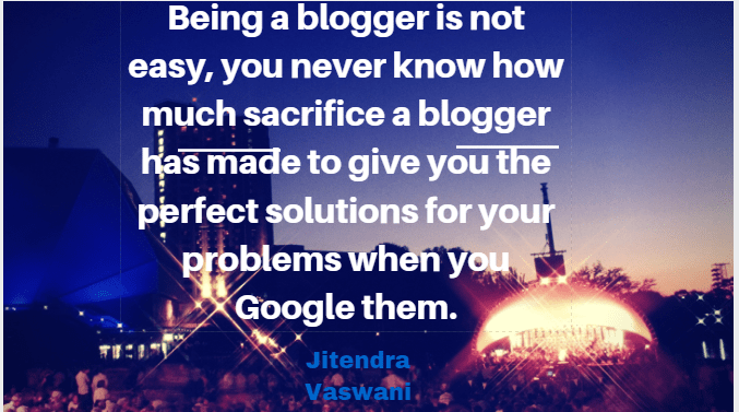 Jitendra vaswani quotes blogger