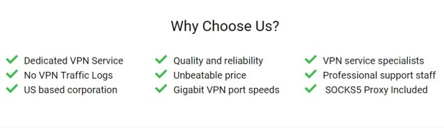 Private Internet Access why choose us