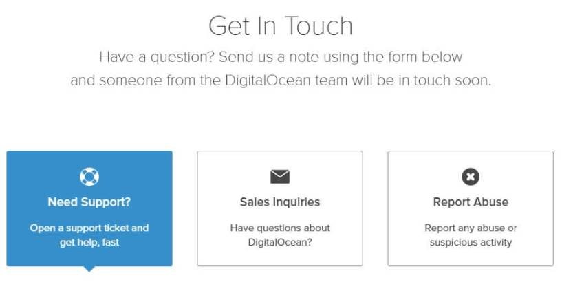 DigitalOcean Review customer support