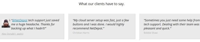 NetDepot Review testimonial