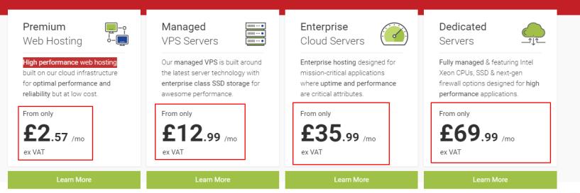 Web Hosting UK Pricing Plan