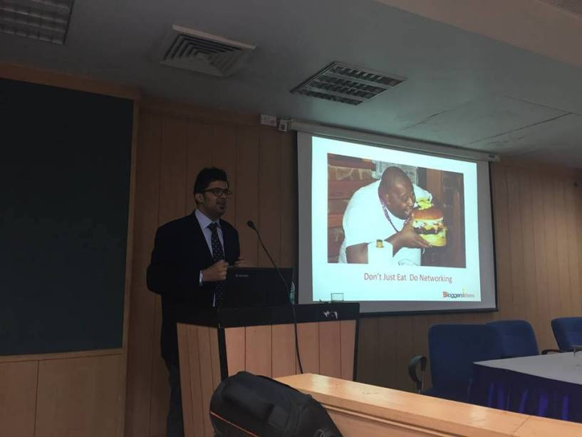 jitendra vaswani blogging workshop at amity university
