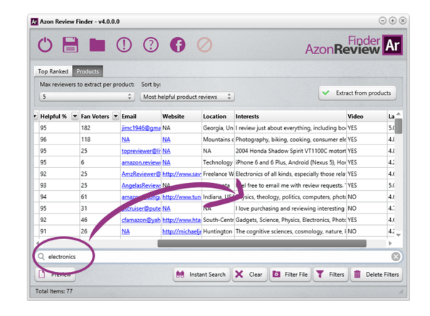 azon review finder screenshot 4