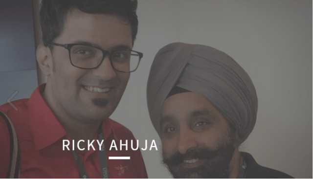 Ricky Ahuja interview