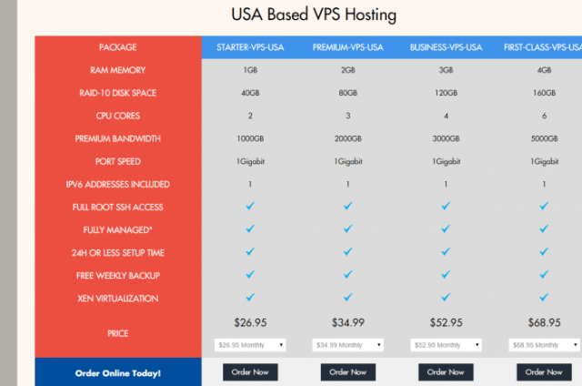 Temok USA Based VPS Hosting