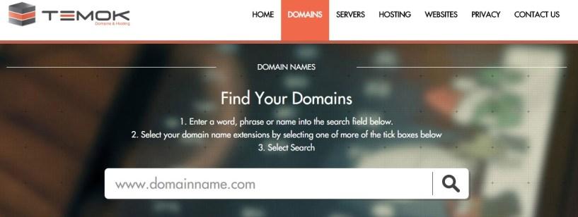 domain searchbar temok