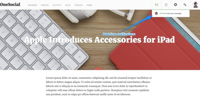 OneSocial A Refreshing BuddyPress theme for all types of BuddyPress sites (8)