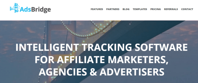 AdsBridge Affiliate software web tracker and landing page builder review