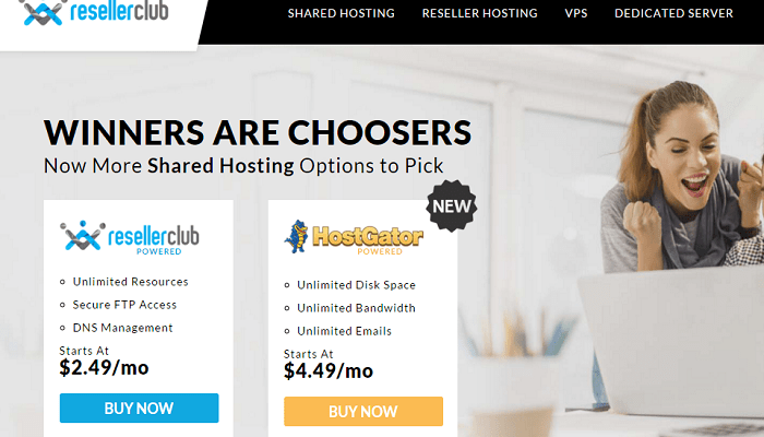 ResellerClub Shared Reseller Hosting Dedicated VPS