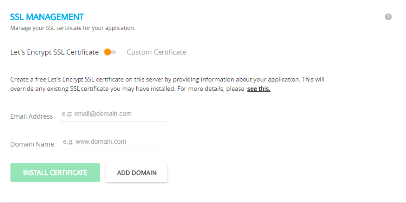 cloudways wordpress hosting- SSL certificate