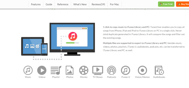 iSkysoft TunesOver for Windows