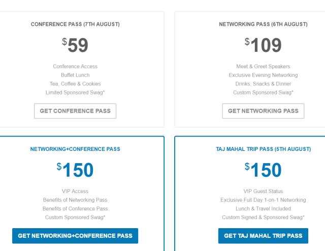 DomainX 2016 Conference New Delhi pricing