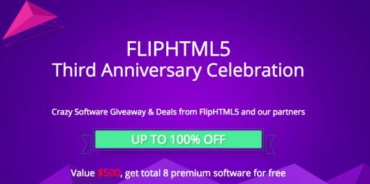 FlipHTML5 Third Anniversary Celebration FlipHTML5