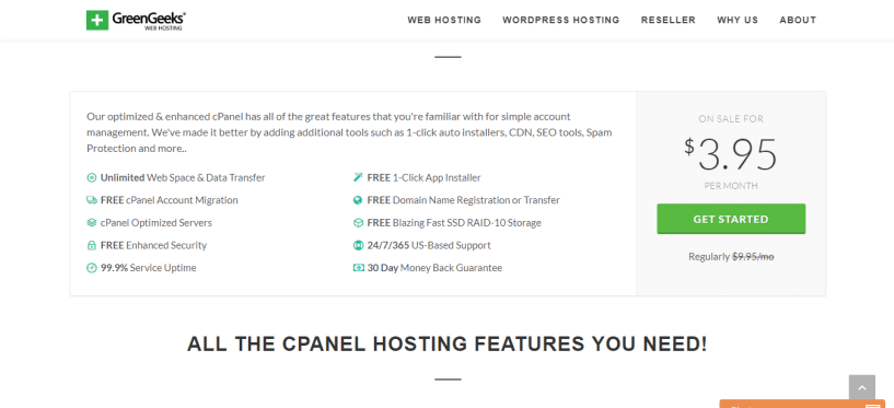 cPanel Hosting by GreenGeeks®