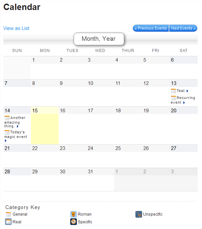 My Calendar - WordPress Event Calendar
