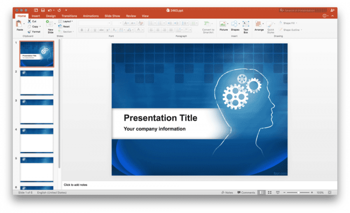 free-brain-powerpoint-template