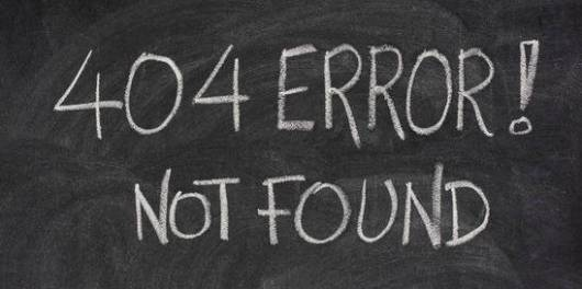 internet warning message, 404 error, handwritten with white chalk on blackboard