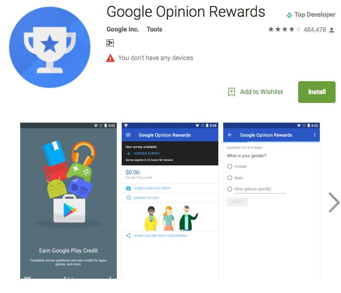 google opiion rewards- best money making app