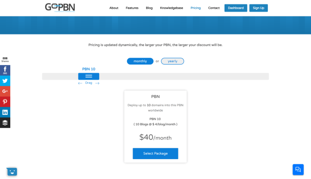 GoPBN pricing