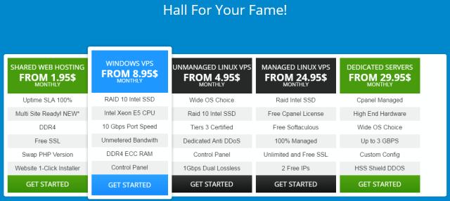 Hoststage review - Hoststage hosting pricing