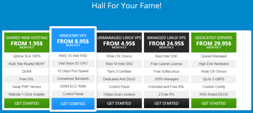 Hoststage review - Hoststage hosting pricing