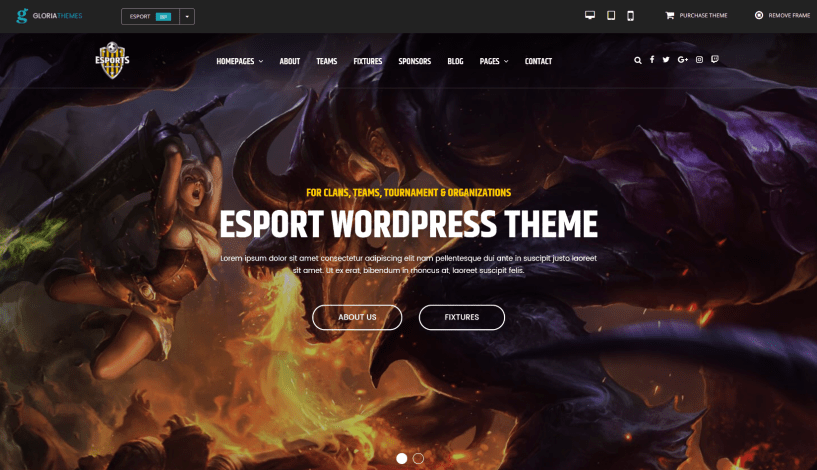 esport gaming theme