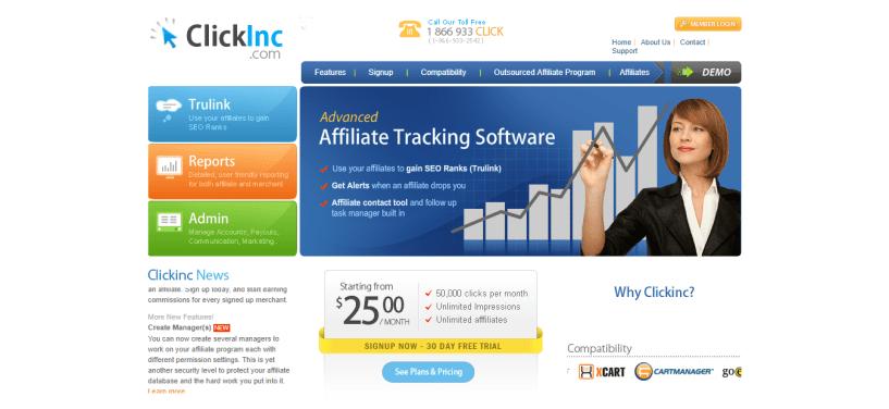 Affiliate Program Software - ClickInc