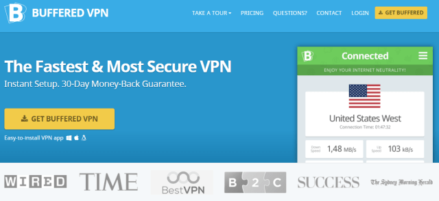 Buffered VPN - top torrenting vpn