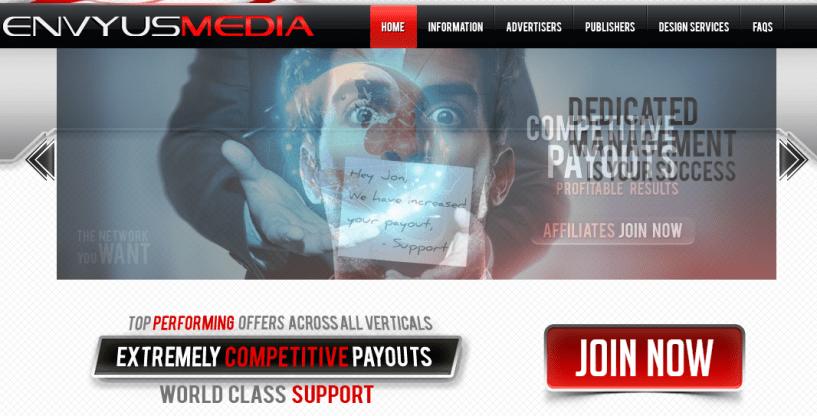 EnvyusMedia.com - top best adult CPA Network
