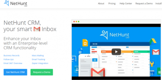 Gmail CRM for Small Medium Business - NetHunt Review
