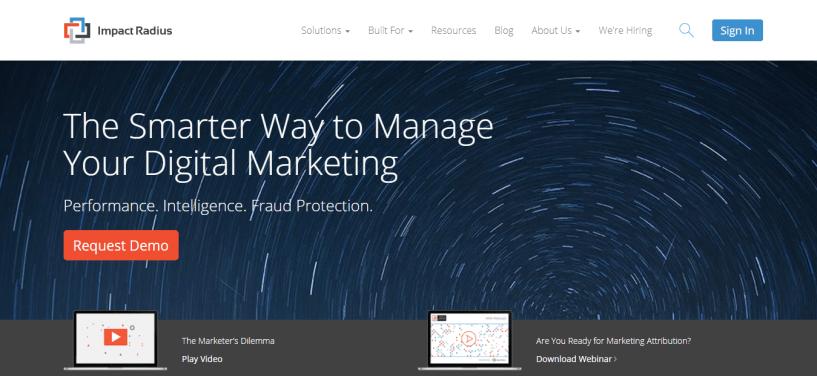Impact Radius - The Smarter Way to Manage Your Digital Marketing