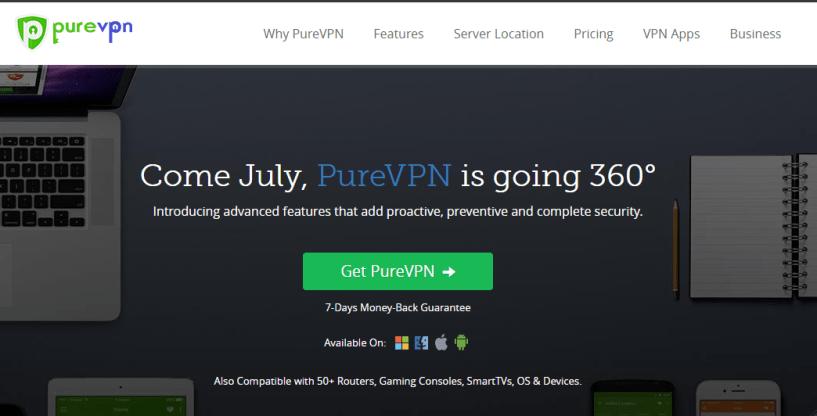 best vpn provider in china - PureVPN