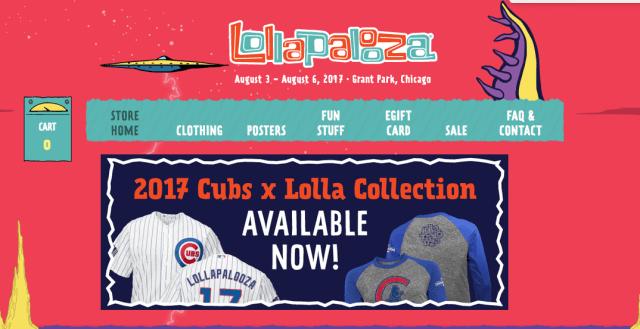 Lollapalooza - Shopify eCommerce platform