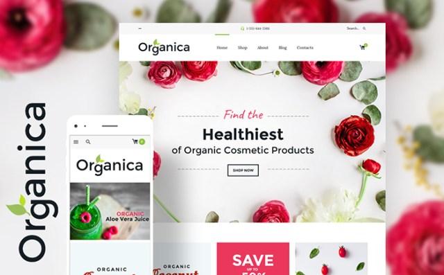 Organica - Organic Food, Cosmetics and Bio Active Nutrition WooCommerce Theme