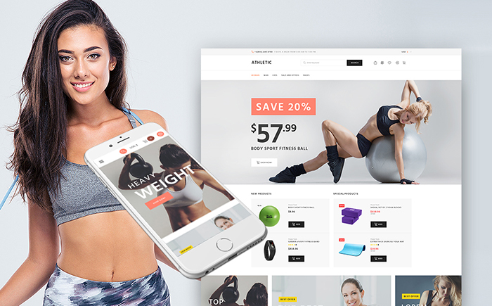 Athletic - Sports Store WooCommerce Theme