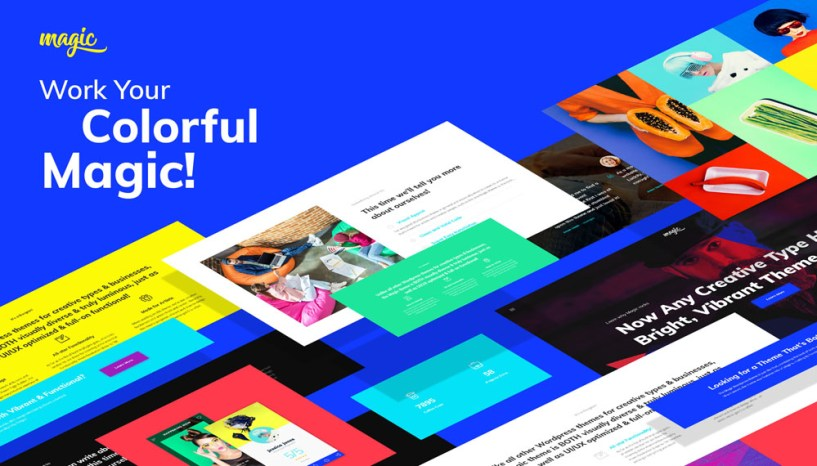 Add Vibrant Colors to your Business with Magic – Multipurpose Creative WordPress Theme