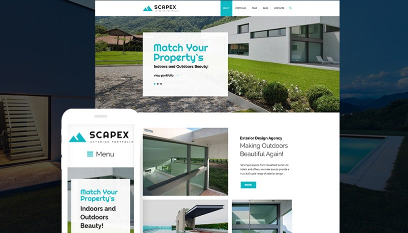 Create a Stunning Image of Your Designer Services with Scapex – Exterior Designer Portfolio WordPress Theme